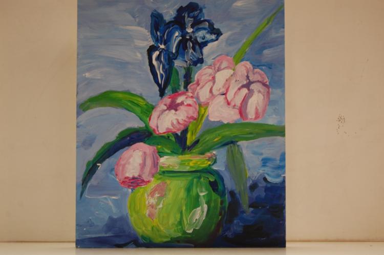 tableaux vase de fleurs