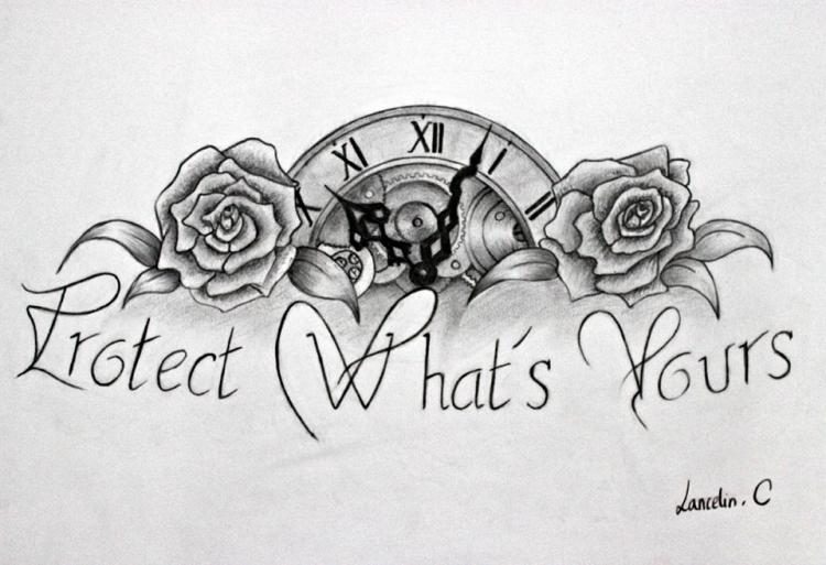 Tatouage horloge dessin - Fleur tatouage dessin ...