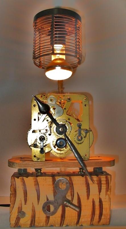 Bien Deco Recyclage Recuperation #7: DéCO, DESIGN Deco Luminaire Recyclage Recuperation - Lampe Pendule
