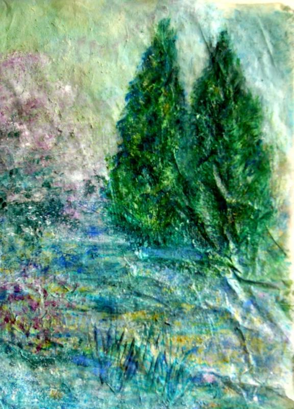 TABLEAU PEINTURE arbres printemps nature printemps - Ils veillent le printemps