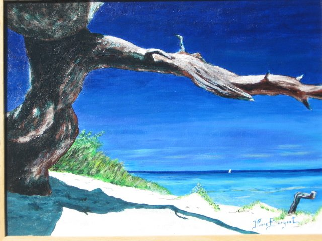 Tableau peinture art corse ajaccio plage mer marine - Tableaux mer et plage ...