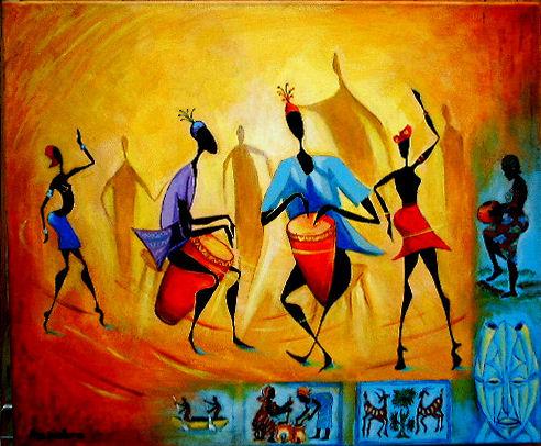 art africain tableau
