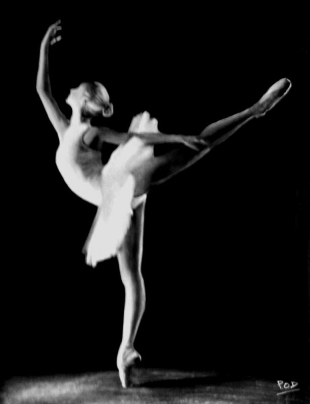 Connu TABLEAU PEINTURE tableau de danseuse danse classique déco design  MI15