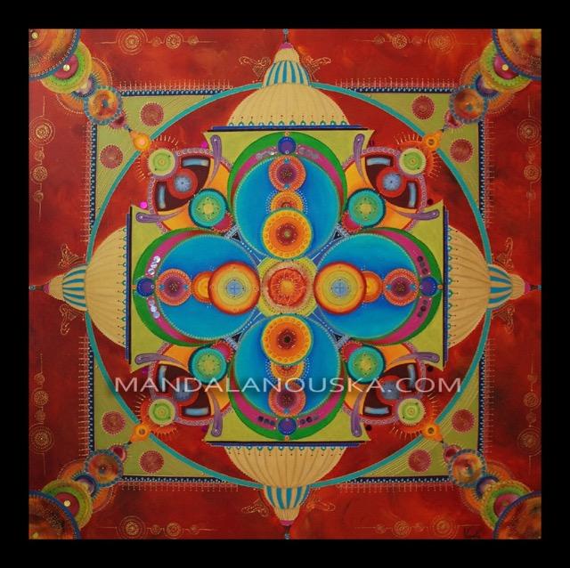 Tableau peinture art mandala acrylique eclat de l 39 or - Eclat baignoire acrylique ...