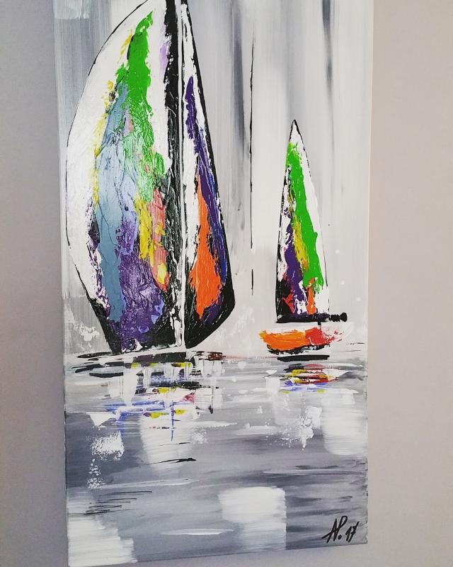 Peinture acrylique marine - Peinture glycero ou acrylique ...