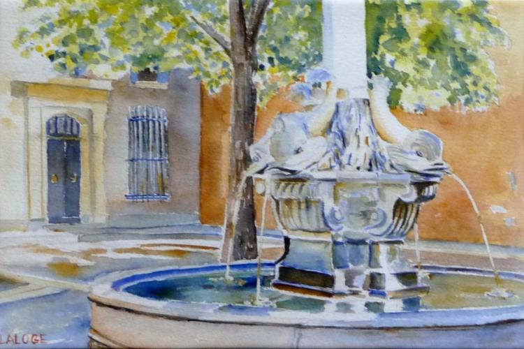 Tableau Peinture Art Fontaine Provence Midi Aix En Provence Villes