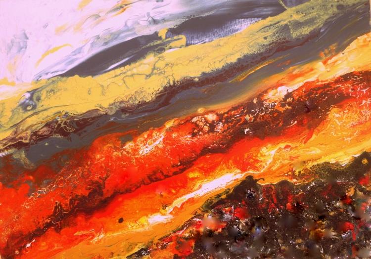 TABLEAU PEINTURE nature terre roches volcan - El Teide