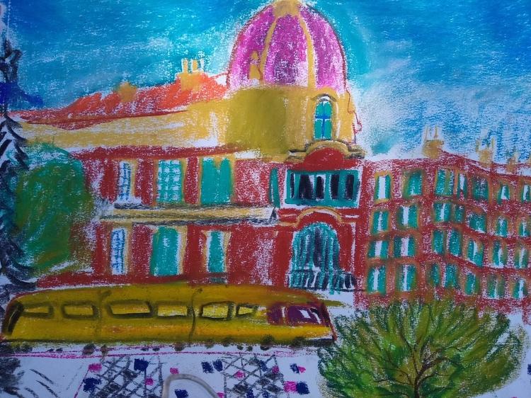 TABLEAU PEINTURE - Des pastels de NICE
