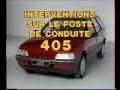 Peugeot 405 - Tableau de bord depuis millésime 1993