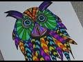 Dessiner un hibou (dessin et coloriage assez facile)