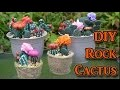 DIY Painted Rocks - Cactus Decorations