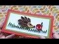 Tutoriel de  quilling : le hérisson et la pomme