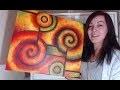 Peinture Acrylique Abstraite Colorée