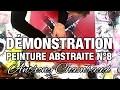 Démonstration : comment réaliser un tableau abstrait rouge et noir
