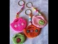 crochet porte-clés mini sac/panier