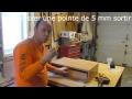 Table de chevet   Glissières et tiroir