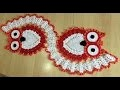 Tuto chemin de table chouette au crochet 1/2