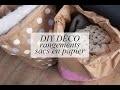 DIY DÉCO : rangements sacs en papier