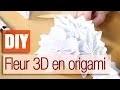Réaliser une fleur 3D en Origami - DIY