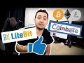 STOP Coinbase Essaie Litebit avec 50 cryptos ! Paye moins de frais sur ton bitcoin ! #LangueDeGeek