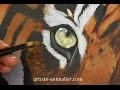 "[Peinture à l'huile] Tigre ""Speed painting"""
