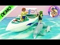 Plongée sous-marine avec dauphins et speedboot Playmobil - Démo