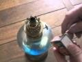 Fonctionnement d'une lampe à alcool