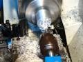 Réalisation d'une poulie pour courroie striée sur un tour a métaux