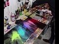 """Test du matériel """"I Love Art"""" dans une peinture abstraite par Anthony Chambaud"""