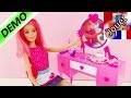 Commode Barbiepour se coiffer et se maquiller avec miroir et accessoires | Table de maquillage...