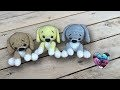 Amigurumi Chiots super adorables ! Crochet / Puppies amigurumi crochet (English subtitles)