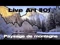 Live art #01 paysage de montagne