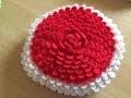Tuto coussin, tapis petale au crochet 1/2