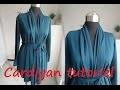 Tuto couture : Cardigan avec col châle drapé (Patron PDF gratuit)
