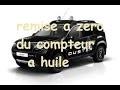 comment mettre a zero le compteur d huile Dacia Duster