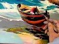Barque de pêcheur sur la plage