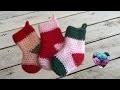 Chaussettes de noël crochet / Christmas boots crochet easy