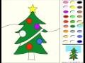 Noël jeu de coloriage arbre - jeux pour enfants