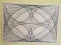Dessin géométrique avec juste une règle et un crayon