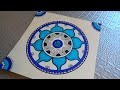 Dessiner un mandala (dessin et coloriage)