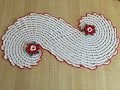 Tuto chemin de table Spirale ou tapis au crochet