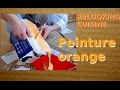 Relooking cuisine  J'attaque la peinture orange
