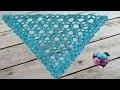 Châle turquoise au crochet facile/ Chal tejido a crochet facil de tejer