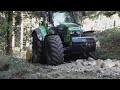 Réfection et rénovation de chemin forestier et agricole avec Deutz7250 TTV et Kirpy BPS 250