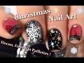 [ Nail Art ] NOËL Flocon et French - Christmas Snowflake Nails Tutorial // melyne nailart