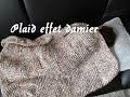 tricoter un plaid / couverture façon damier