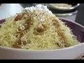 Recette de seffa : cheuveux d'ange à la marocaine / Sweet Moroccan Vermicelli