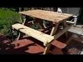 Table de pique-nique en bois pour le jardin