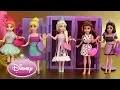 7 Poupées Princesses Disney Magiclip Vêtements Polly Pockets Séance d'essayage 2