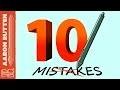 10 Digital Art MISTAKES! (Subtitles in French, Italian, Portuguese, Russian, Serbian & Spanish)